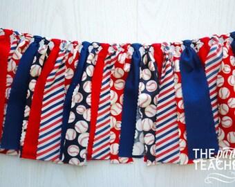 Baseball Fabric Bunting - FREE Shipping - Baseball Fabric Garland - Baseball Garland - Baseball Bunting - Baseball Banner - Baseball Party