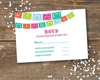 Fiesta Wedding RSVP Card Printable