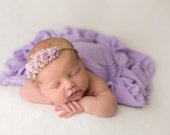 FLORAL COLLECTION ~ Blossoms (Newborn Photo Prop, Newborn Headband, Newborn Tieback, Newborn Flower Crown, Newborn Halo, Photography Props)