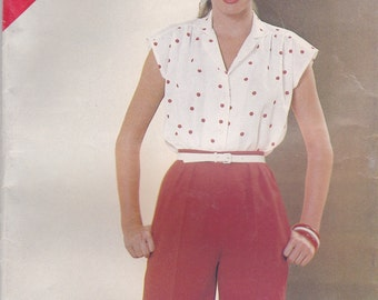 Blouse & Shorts Pattern Butterick 5157 Sizes 14 16 18 Uncut