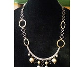 Silver and Gold vintage chain (208)