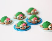 Sea turtles fondant toppers - Sea turtle topper - Reptile fondant toppers - Fondant Turtle Toppers - Girl Fondant Turtle Topper - Sea Turtle