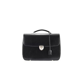 SALE Leather briefcase women NITA // black (Italian calf leather) - FREE shipping