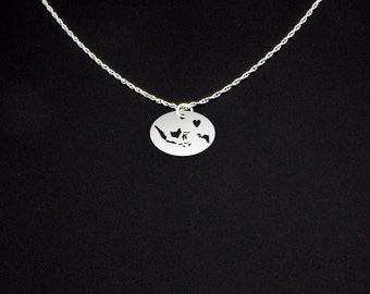 Indonesia Necklace - Sterling Silver Love Heart