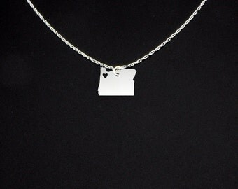 Oregon Necklace - Oregon Jewelry - Oregon Gift