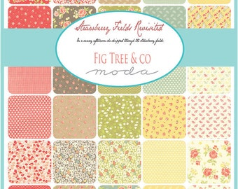 Strawberry Fields Revisited Fat Quarter Bundle by Fig Tree & Co. for Moda - One Fat Quarter Bundle - 20260AB