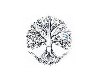 Custom Tree Tattoo - One Off Tattoo Design - Your idea I create - Family Tree Tattoo
