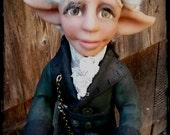 SALE - Art Doll Steampunk Christmas Elf - Pierre