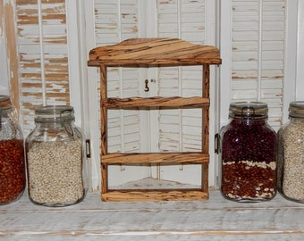 Unique Spice Rack Nail Polish Holder Storage Nail Polish Organizer Rare Spalted Maple Wood Shelf