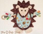 Hedgehog Baby Lovey Blanket Toy Teething Crib Decor Cuddle Buddy