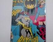 Batgirl Passport Cover Fabric with Vinyl Travel Accessory Ship Cruise Passport Protector Gift Card Holder Female Superheroes Comic Women