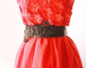 Black Lace Sash Belt Wedding Dress Sashes Belts - Bridal Bridesmaids Flower Girl Dress Lace Ribbon Belt