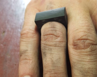 Chunky carbon fiber ring