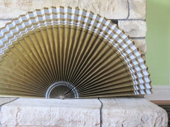 Vintage Fireplace Fan Decorative Paper Fireplace Screen Or
