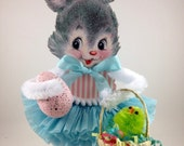 Retro Easter Bunny Decoration Egg not included