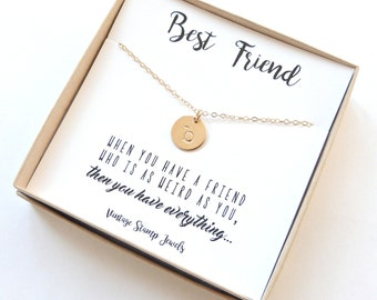 Gold Initial Necklace,Best Friend Necklace, Birthday gift, Personalized Necklace, Sterling Silver,Gold Initial Necklace,Gift for her