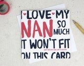 Funny Nan Birthday Card - card for Nan - Nanny - Gran - Granny - birthday card - funny card - Nan birthday - uk - grandma