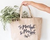 To Market To Market // Burlap Market Tote