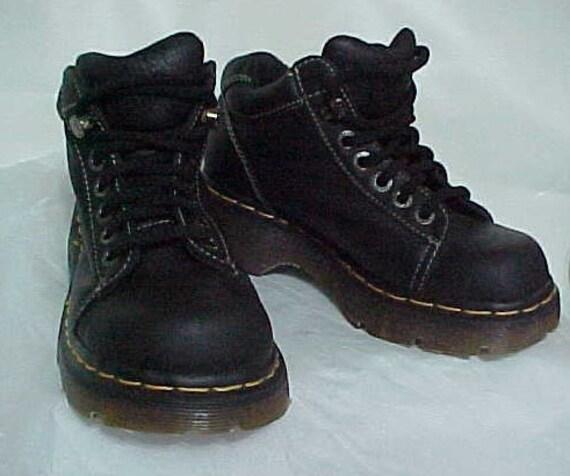 dr doc martens noir bottes made in england uk4 usa6 cuir noir. Black Bedroom Furniture Sets. Home Design Ideas