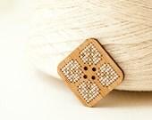 DIY Kit - Cross Stitch Wood Button