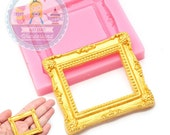 Rectangular Embellishment Frame 765m Cupcake Cake Pop Deco Sugar Paste Fondant Gumpaste fimo Cookie topping Chocolate Melts BEST QUALITY