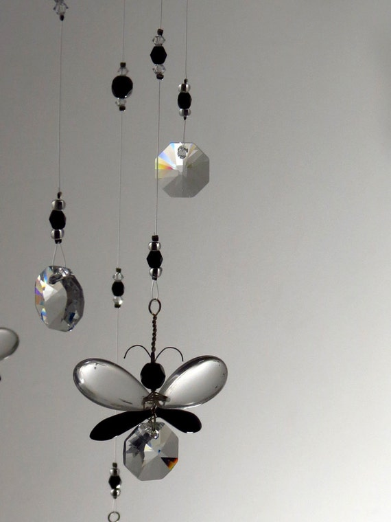 Gift for mom black butterfly crystal chandelier mobile dorm like this item mozeypictures Choice Image