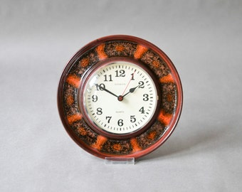 German wall clock, kitchen clock, 60s clock, Dugena clock, glitter clock