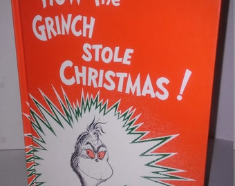 Vintage Dr. Seuss How the Grinch stole Christmas hardcover Book 1985