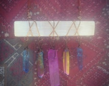 Selenite Wand Necklace Wrapped In Antique Brass Wire