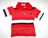 Retro Little Boys Shirt - Vintage Garan - Red, White, Black - Hipster