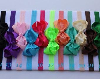 Headband, PICK 11, baby bow headband, baby shower gift for a girl, baby shower gift girl, baby bow headband, infant girl bow headband, baby