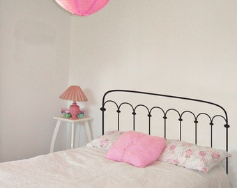 Decal Bed Headboard Frame Bedpost - Wall Decal Custom Vinyl Art Stickers