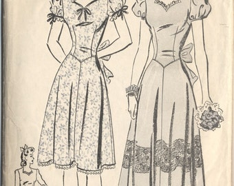 Vintage 1940s Advance Pattern 2981 Ladies Dress Size 14 Bust 32