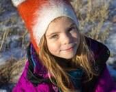 Fox Cub Hat for Kids, Warm Winter ski wear hat, children's Christmas stocking filler gift animal hat