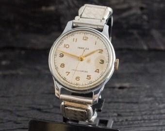 Vintage Pobeda watch, vintage russian watch, vintage men's wrist watch, soviet mechanical watch