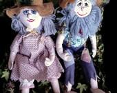 Reserved for Stacey Vintage Hill Billy Dolls Redneck Rag Dolls Pioneer Dolls Toy Handmade Handcrafted Art