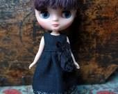 Middie Blythe Black Gauze Dress