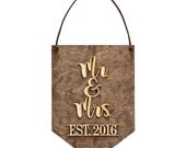 Wedding Gifts, Bridal Shower Gifts, Home Decor, Wall Hangings, Mr and Mrs, Wedding Gifts for Couple, Mr and Mrs Gifts, Established Sign