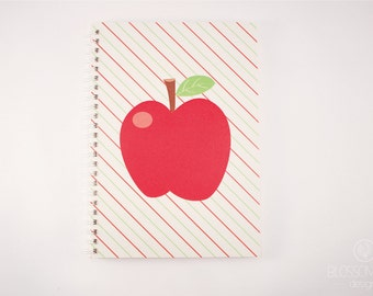 A5 50 pg Notebook - Recycled Paper. Apple