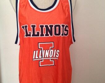 Vintage ILLINOIS Basketball Jersey 90s