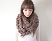 Oversized Infinity Scarf, Chunky Crochet Scarf, Crochet Infinity Scarves, Knit Scarf, Chunky Circle Scarf | The Everest Cowl