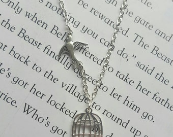 Bird Out of Cage Necklace