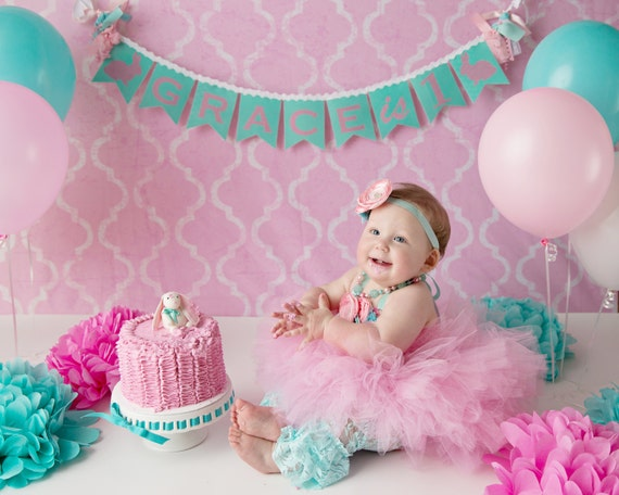 FIRST BIRTHDAY BANNER / 1st Birthday Girl / 1st Birthday