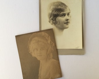 Vintage Early 1900s Sepia Studio Photographs of Swedish Soprano Elizabeth Anderson from Hartford Connecticut