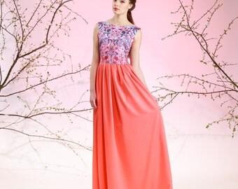 Wild Flowers - sleeveless maxi dress