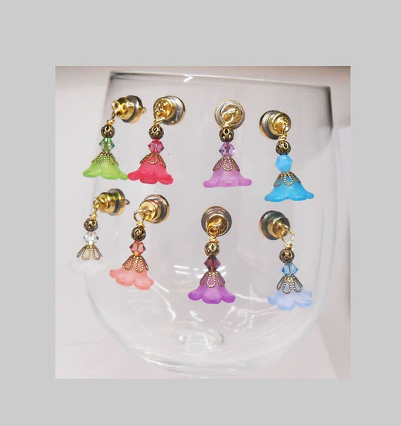 magnetic wine glass charms bridal shower wine glass charms