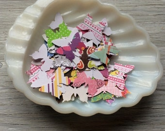 Paper Butterflies- hand punched paper butterflies, butterfly confetti pack of 50