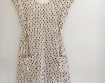 Simple Frock/Dress from Vintage Sheet
