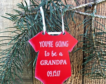 Going to be a Grandpa Pregnancy Announcement Ornament New Pregnancy Announcement Pregnancy Gift We're Expecting Gift New Daddy Gift