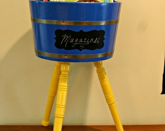 Up-cycled Magazine Holder  /  Plant Stand